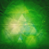 green paper graphic abstract