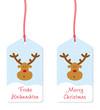 frohe weihnachten merry christmas anhänger rentier