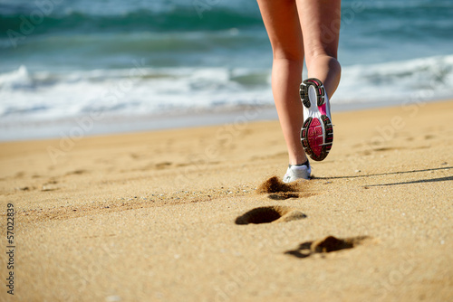 Running on beach