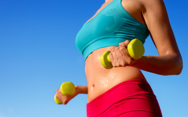 Fitness sweaty body workout