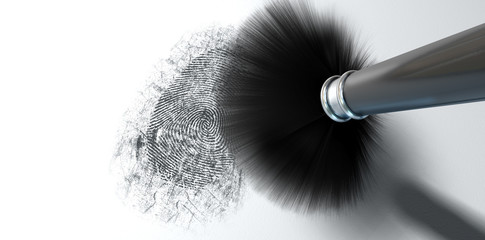 Dusting For Fingerprints On White