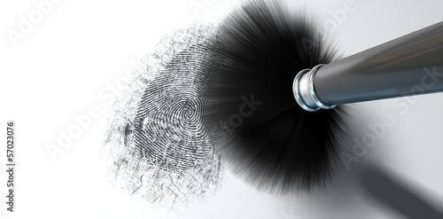 Leinwanddruck Bild Dusting For Fingerprints On White