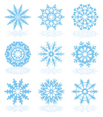 vector collection of snowflake icons