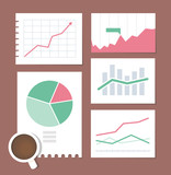 Business chart illustration set