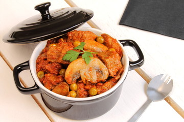 Goulash, meat and vegetables stew