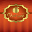 Pumpkin elegant Thanksgiving card in vector format.