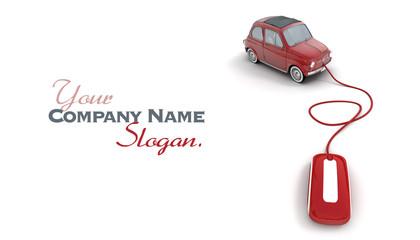 Online red vintage car