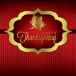 Maple leaf elegant Thanksgiving card in vector format.