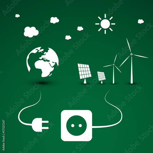 Eco Energy - Vector Illustration