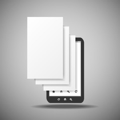 Smartphone With Layers - Business Illustration