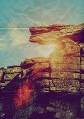 paper rock ledge