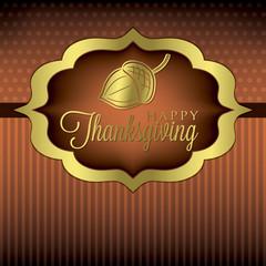 Acorn elegant Thanksgiving card in vector format.