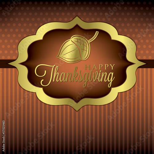 Acorn elegant Thanksgiving card in vector format.