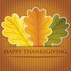 Acorn leaves Thanksgiving card in vector format.