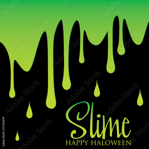 Slime Halloween card in vector format.