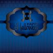 Skull Halloween card in vector format.