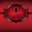Spider Halloween card in vector format.