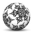 Kugel, Christbaumschmuck, Vorlage, schwarzweiß, Eisblume, Textur