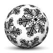 Kugel, Weihnachtsschmuck, Vorlage, schwarzweiß, Eisblume, Textur