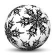 Kugel, Winter, Vorlage, Symbol, Icon, Eisblume, Textur, Zeichen