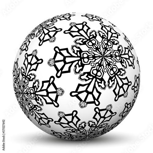 Kugel, Weihnachtsdeko, Vorlage, schwarzweiß, Eisblume, Textur