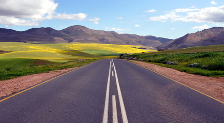 Endless Road Rural Landscape South Africa