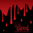 Bloody wall Halloween card in vector format.