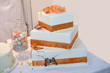 canvas print picture - Three tiered wedding cake