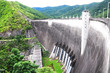 View of electric power plant at Bhumibol Dam, Thailand.
