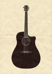 guitar folded paper