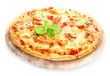 Pizza Margherita isolated on white background