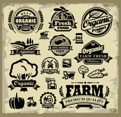 organic harvest labels