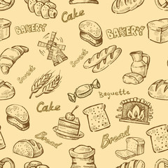 hand drawn bakery