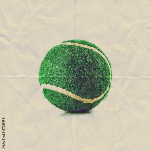 paper tennis ball