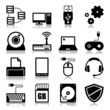 Computer icons with reflection
