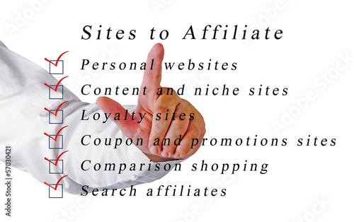 Sites to affailate