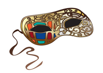 Bright Venetian carnival mask