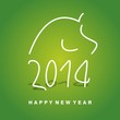 2014 year of horse green vector