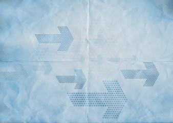 blue paper arrows