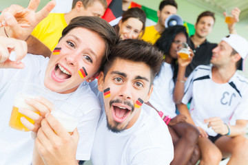 German Supporters at Stadium