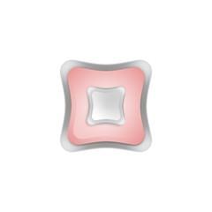 кнопка квадрат 2