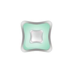 кнопка квадрат 3