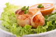 scallop and salad