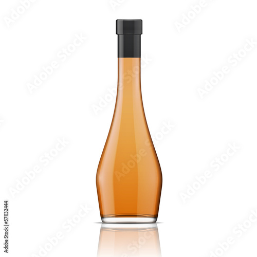Glass brandy (bourbon, whiskey, cognac) bottle.
