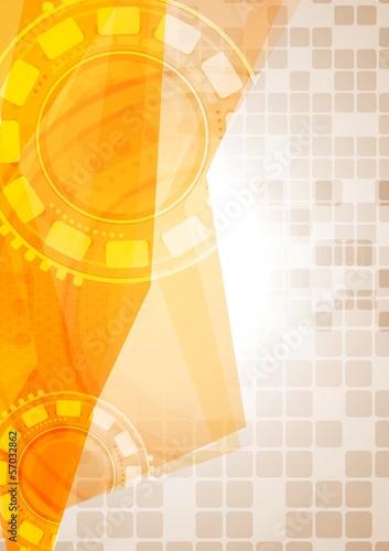 Abstract hi-tech yellow design