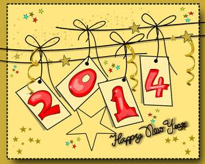 Silvester, 2014, Neujahrskarte