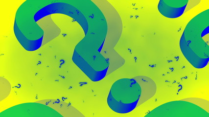 Funky colors question mark looping animated background