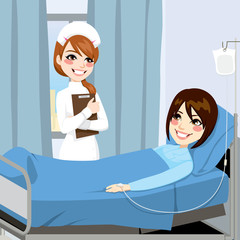 Nurse and Woman Patient