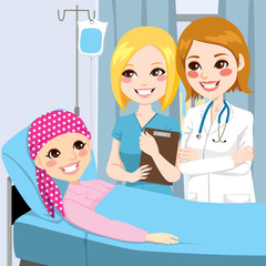 Woman Doctor Visit Young Girl