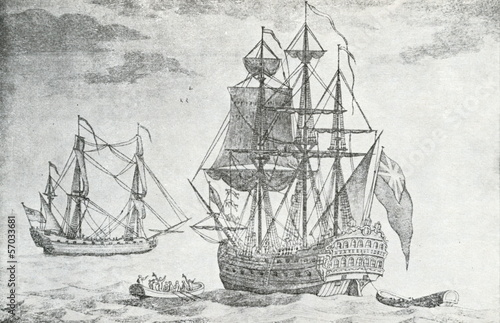 English sailing ships of 17. century